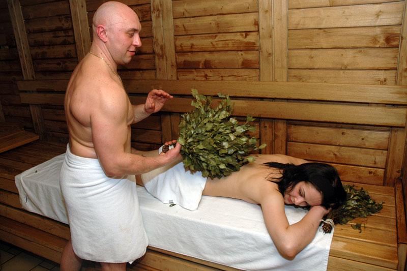 В деревенской бане с женщиной
